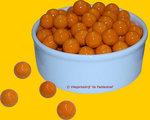 Glans Oranje Knikker per stuk