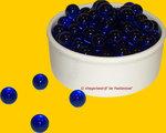 Kristal Donker Blauw Knikker per stuk