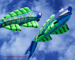 Premier Kites Mega Flying Fish Cool