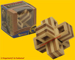 Philos Cuby Cross Bamboe - IQ Puzzel