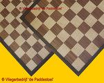 Schaak - Dambord ingelegd Bruin 50