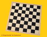 Schaak - Dambord triplex Zwart