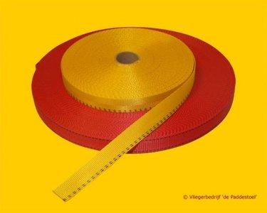 2,5 cm Rood Autogordelband per meter