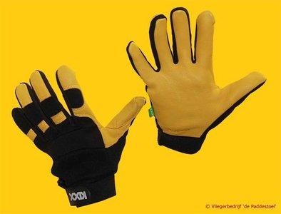 Handschoen Leer Geel