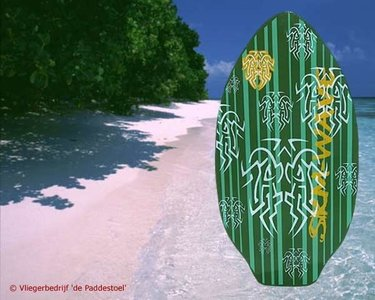 Green Stripe Large Skimboard