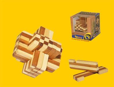 Philos Duivels Knoopje Bamboe - IQ Puzzel