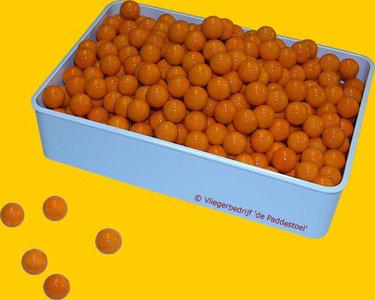 Glans Oranje knikkers - per kilogram