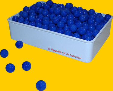 Glans Blauw knikkers - per kilogram