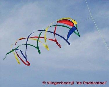 Premier Kites Hypno Twister L Regenboog
