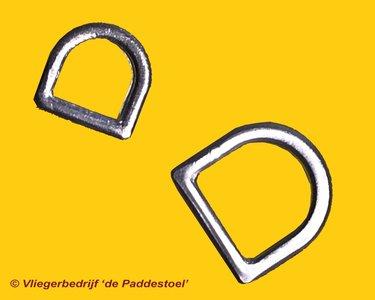 13 mm D-ring Aluminium Rond