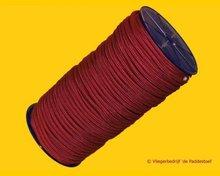 Gevlochten Nylon 6 mm - 100 m Rood