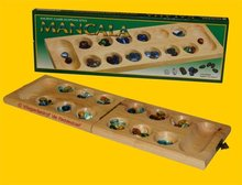 Hotgames Mancala / Kalaha / Bantumi 45 Glas - Scharnier