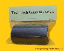 Technisch Gaas Zwart 10 x 245 cm